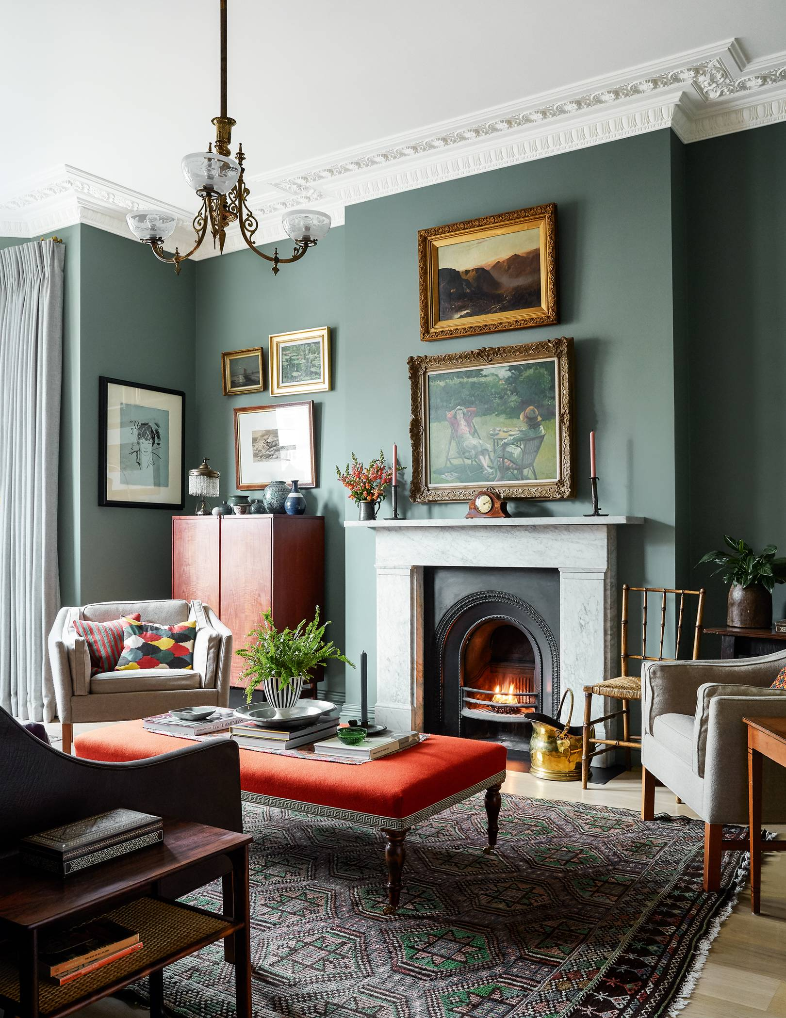 IMAGE: via House and Garden feat. paint color 'Castle Gray' from Farrow and Ball