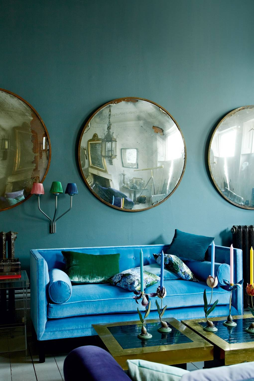 IMAGE: via House and Garden feat. paint color 'Downpipe' from Farrow and Ball