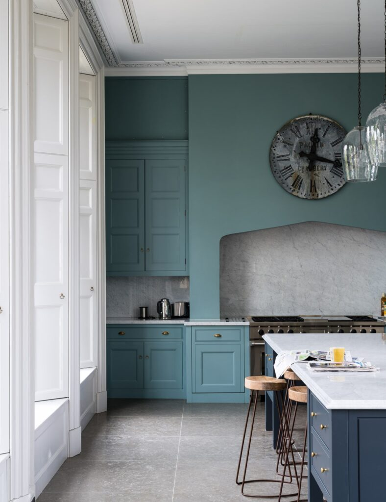 IMAGE: via Farrow and Ball feat. paint color 'Oval Room Blue' from Farrow and Ball