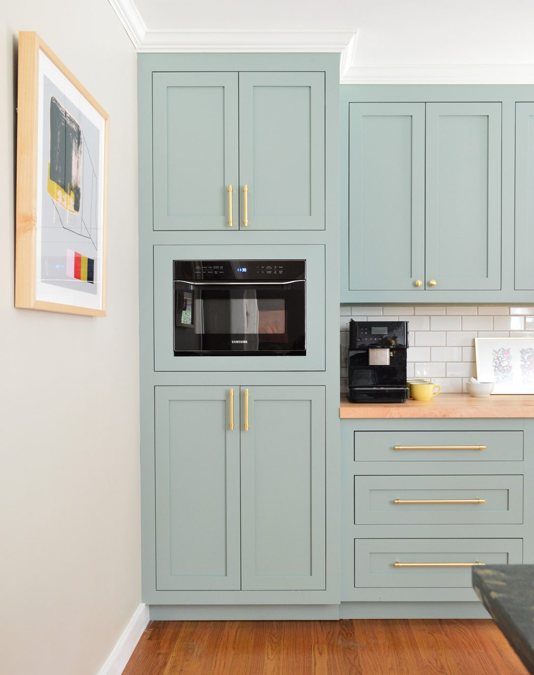 IMAGE: via Young House Love feat. paint color 'Halcyon Green' from Sherwin Williams