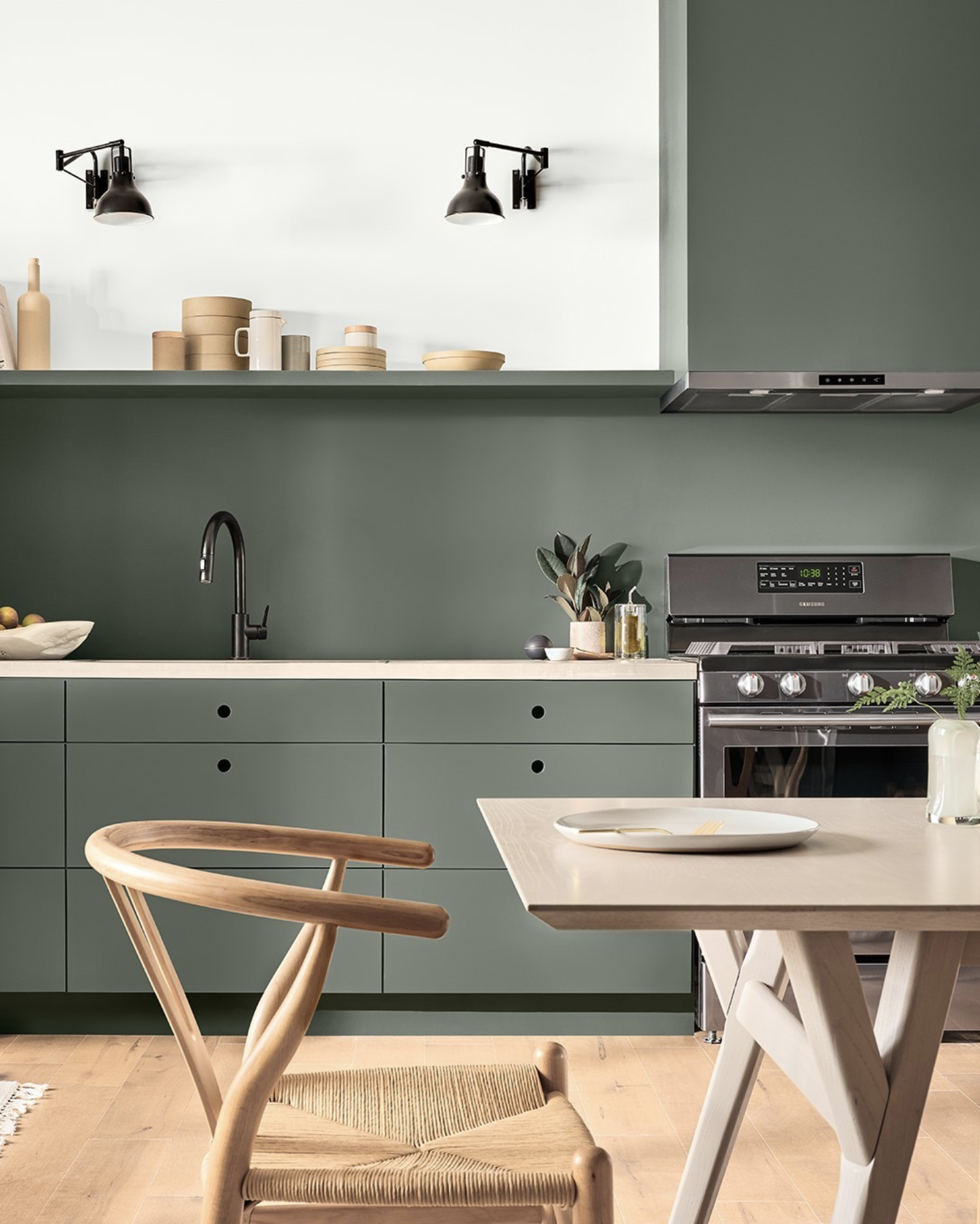 IMAGE: via @sherwinwilliams feat. paint color 'Pewter Green' from Sherwin Williams