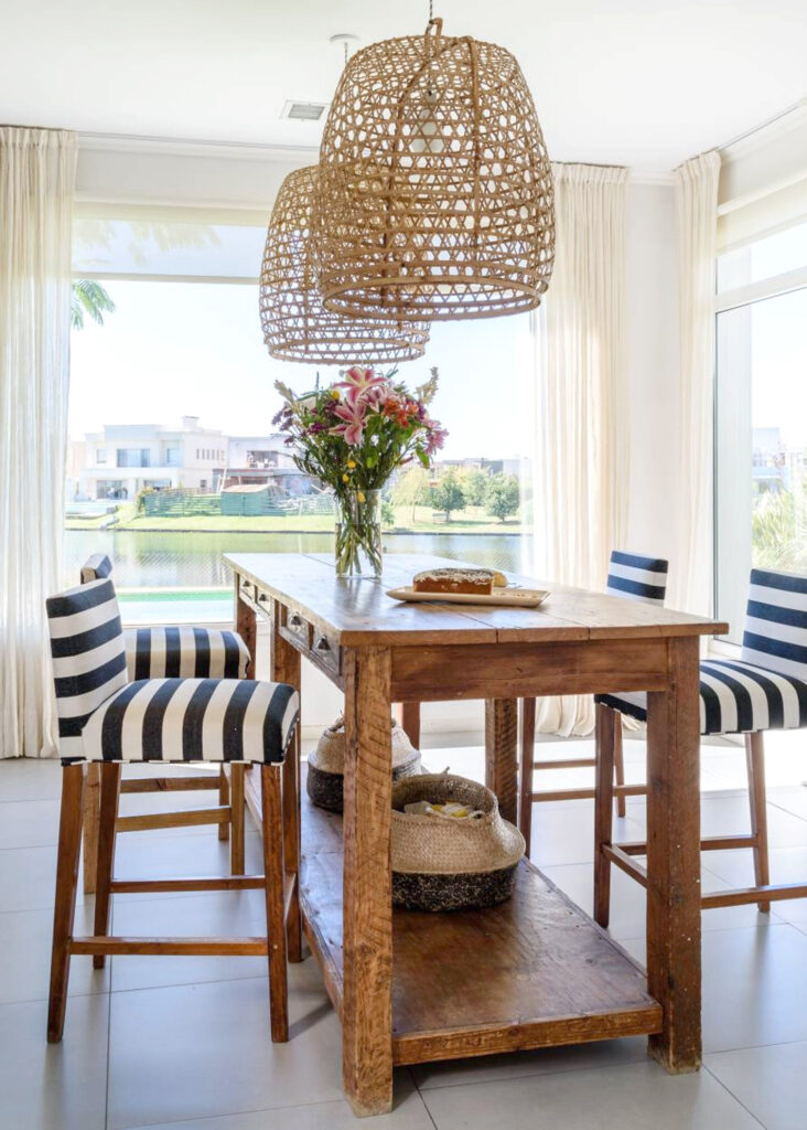 Image via My Bali Living (Etsy) feat.'San Clemente' Bamboo Pendant (20-inch w) - 15+ Stylish Oversized and Extra Large Rattan Pendant Light Options