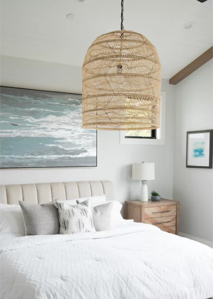 Image via Wayfair feat. 'Rimmer' Single Bell Pendant (22-inch w)