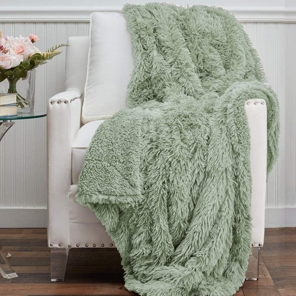 Sage Green Throw Blanket via Amazon