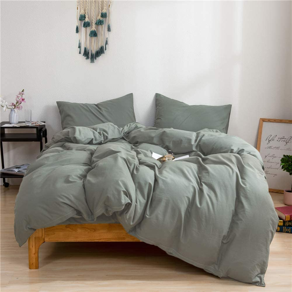 ROUND-UP: Sage Green Bedroom Accessories and Décor - ft. Sage Green Duvet Set via Amazon