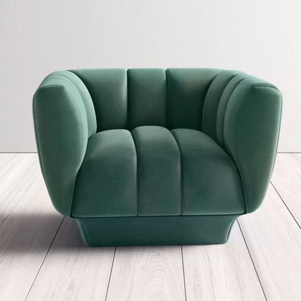 Barrel Chair in Green via All Modern
