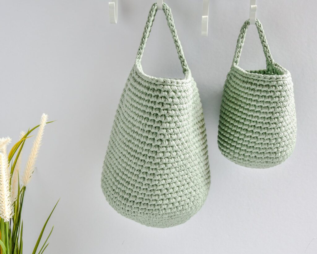 ROUND-UP: Sage Green Bedroom Accessories and Décor - ft. Hanging Storage Baskets via Kelly's Handmade (Etsy)