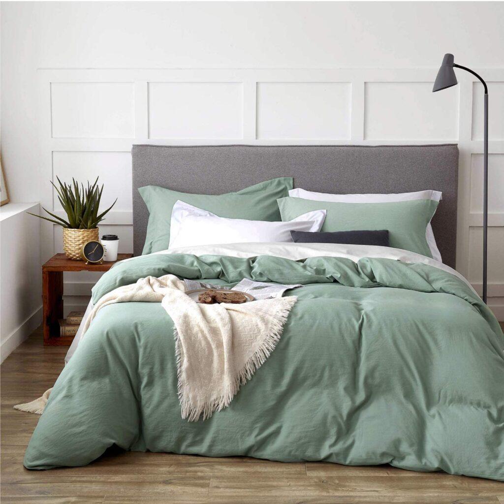 Sage Green Duvet Set via Amazon