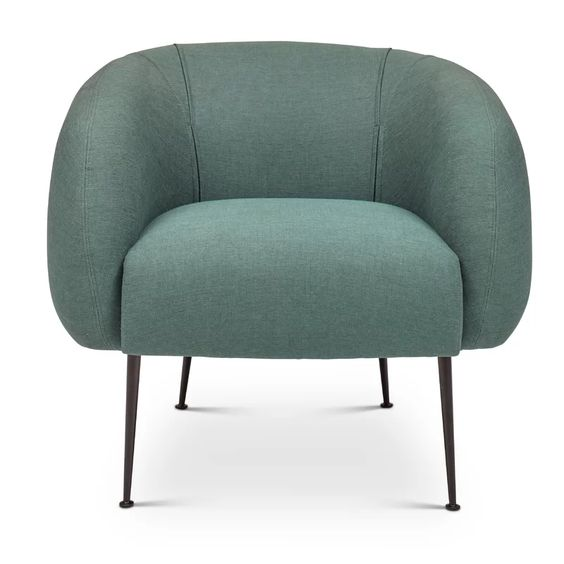 Barrel Chair in Dark Green via All Modern