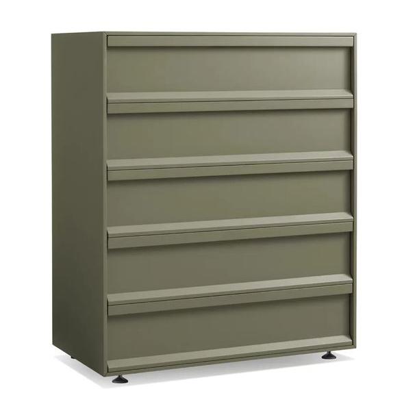 5-Drawer Dresser in Gray Green via Wayfair