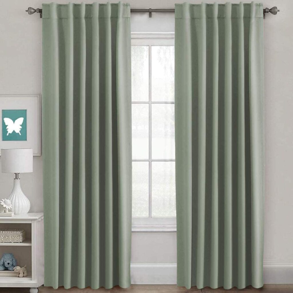 Blockout Curtains in Sage via Amazon