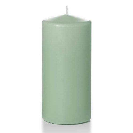 Pillar Candle 3-pk in Sage via Amazon