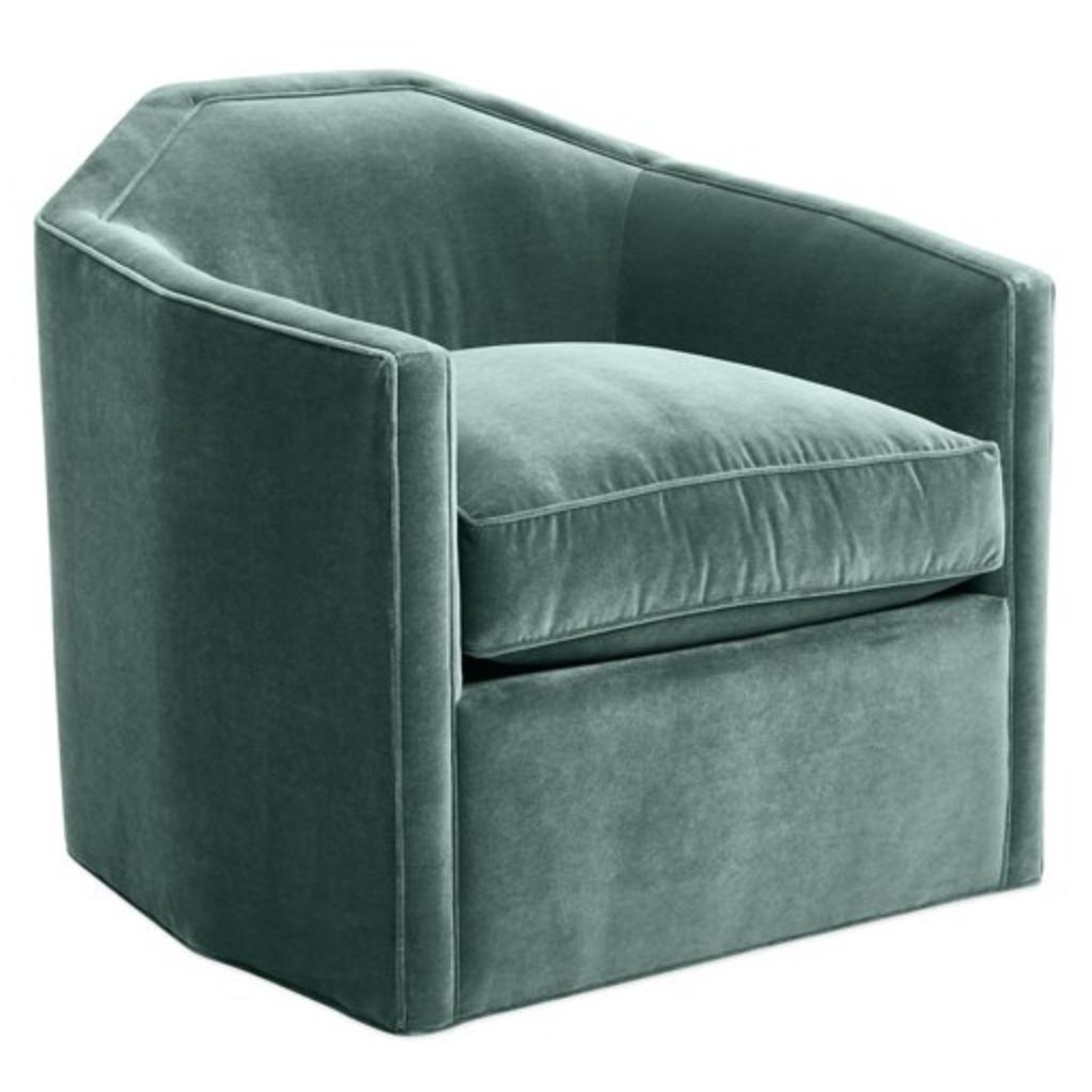 Club Chair in Sage Velvet via One Kings Lane