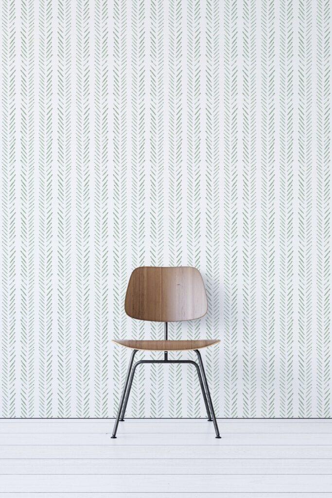 ROUND-UP: Sage Green Bedroom Accessories and Décor - ft. Sage Herringbone Wallpaper via Wallflora Shop (Etsy)