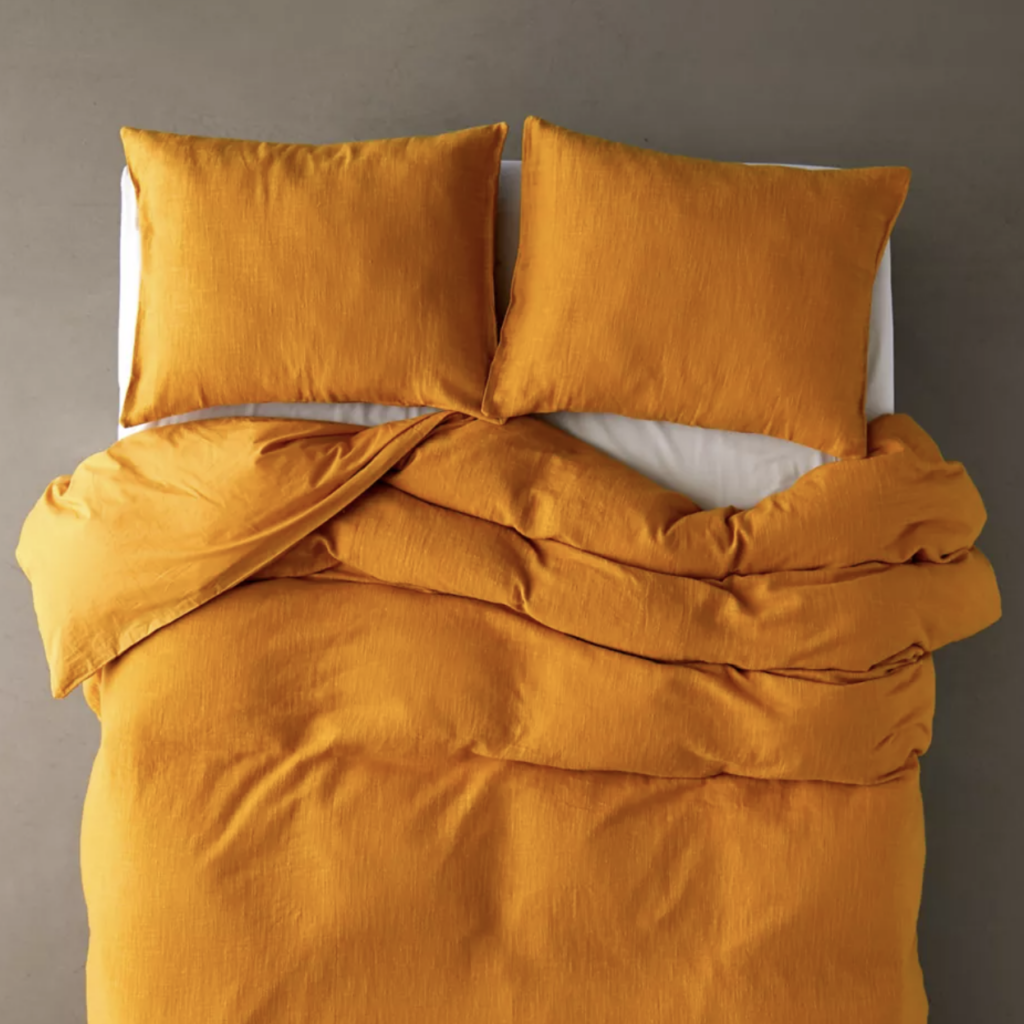 Mustard Duvet Set via UO