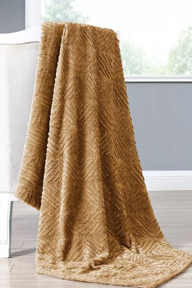 Mustard Throw Blanket via Wayfair