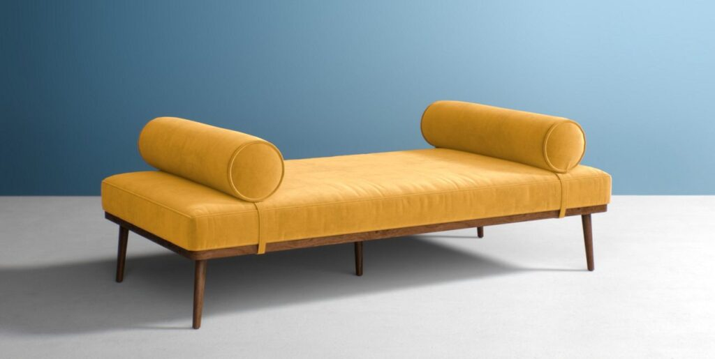 Mustard Velvet Daybed via Anthropologie