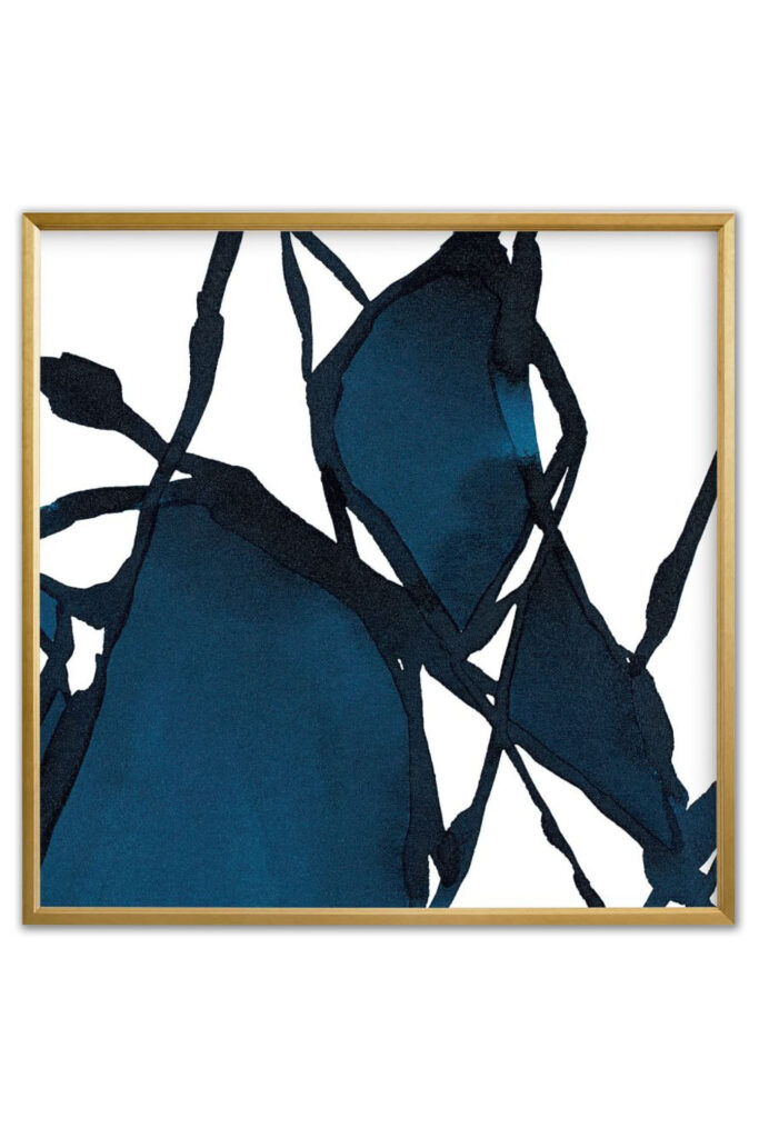 Navy Blue Abstract Art via West Elm