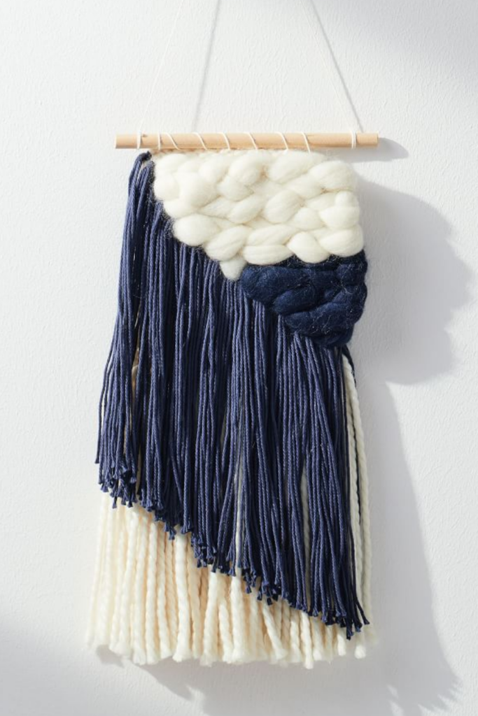 Navy Wall Hanging via West Elm