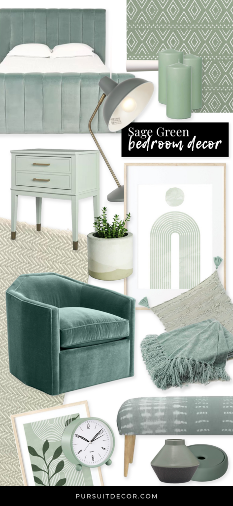 ROUND-UP: Sage Green Bedroom Accessories and Décor - Pursuit Decor