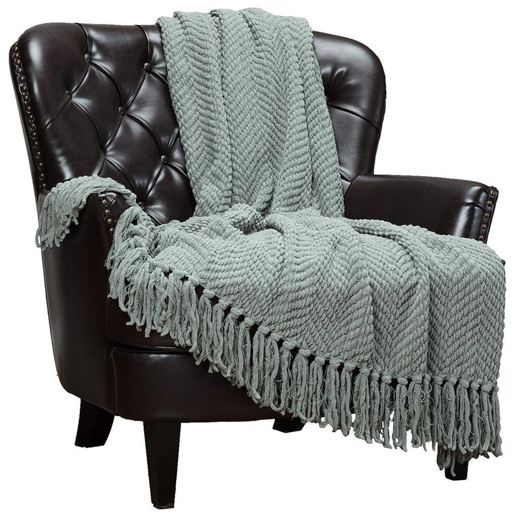 Textured Throw Blanket via Amazon