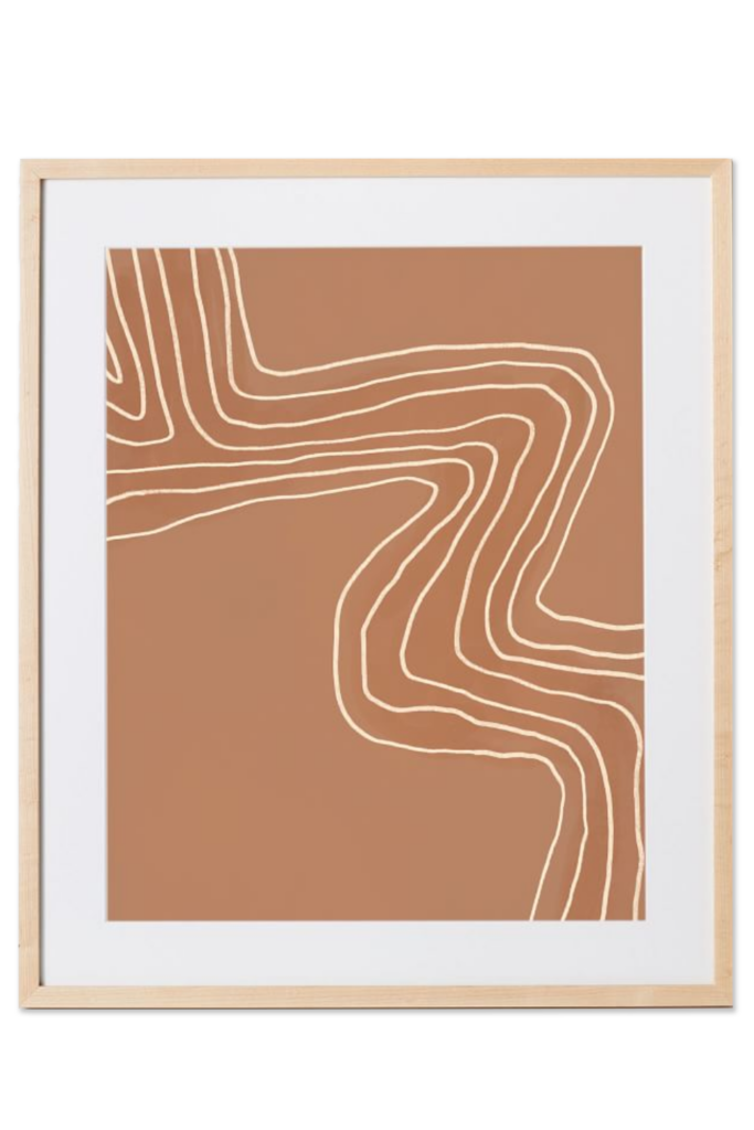 Elan Byrd Print - Terracotta Wave via West Elm