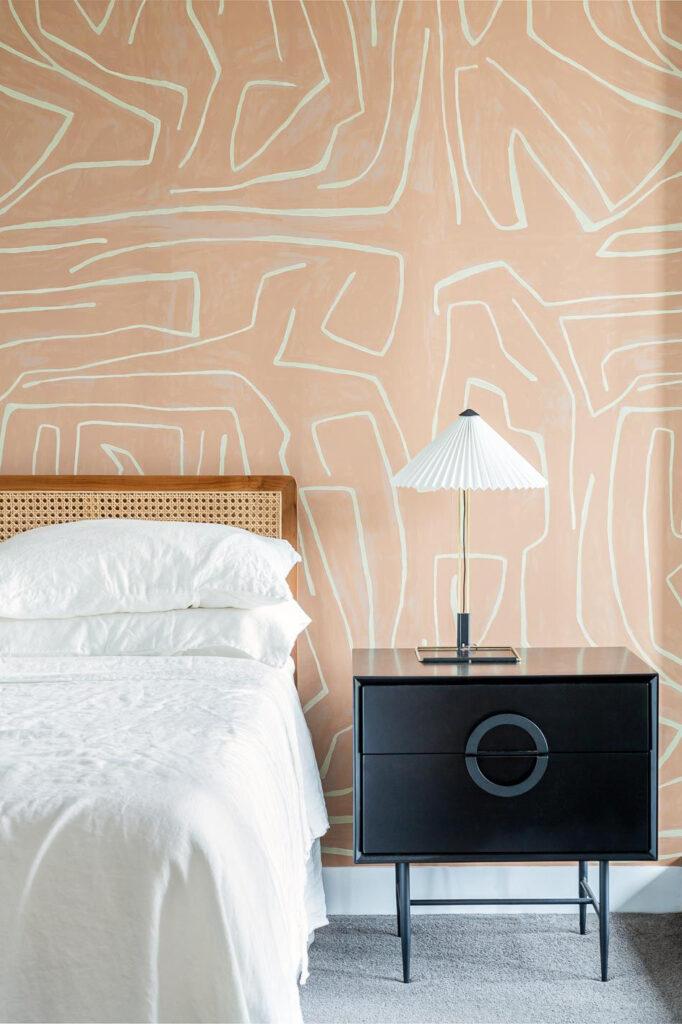 EARTH TONES: Terracotta Bedroom Ideas and Paint Colors - Image via Claudia Stephenson Interiors