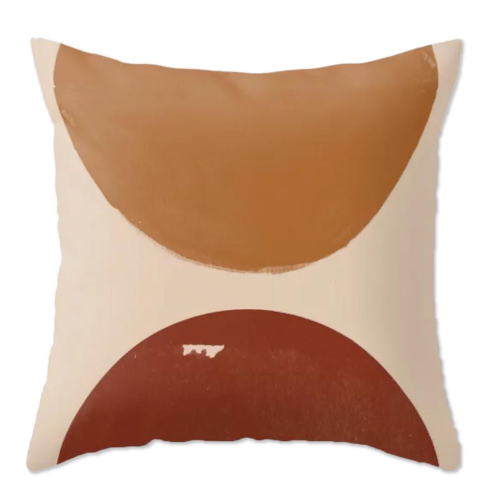 Burnt Orange Sun Throw Pillow via Society6
