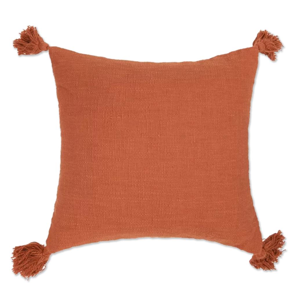 Odette Throw Pillow in Rust via Wayfair