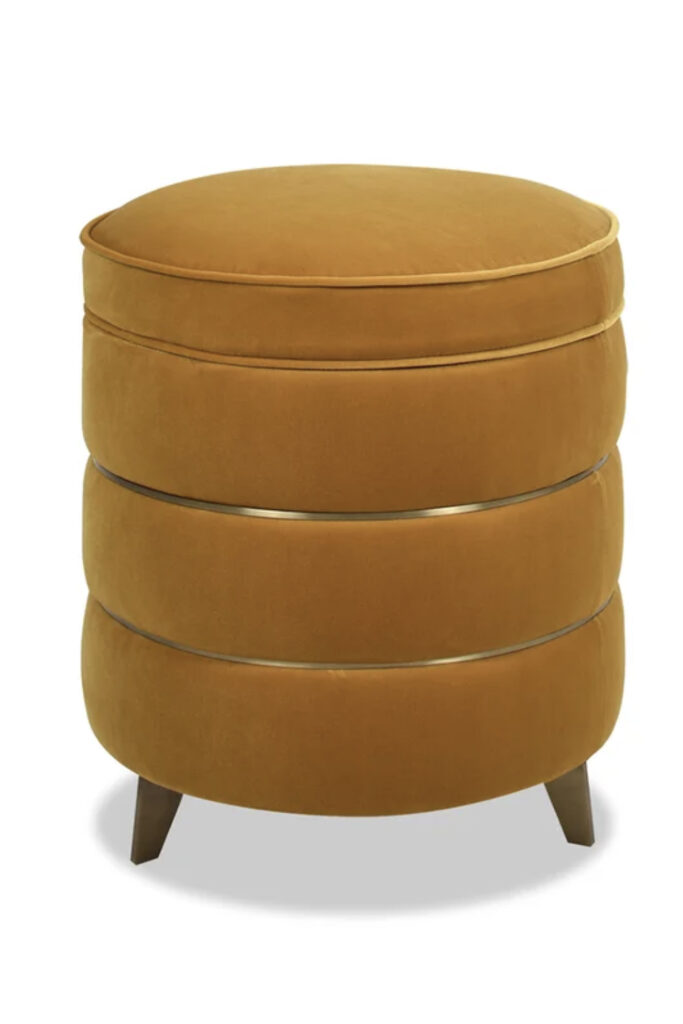 Velvet Mustart Footstool via Wayfair