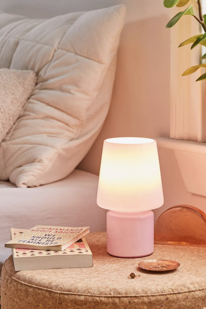 Image via Urban Outfitters, feat. 'Little Glass Table Lamp in Lavender'