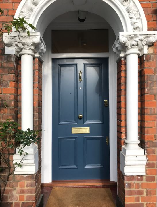 Image via The Bespoke Front Door blog, blue door