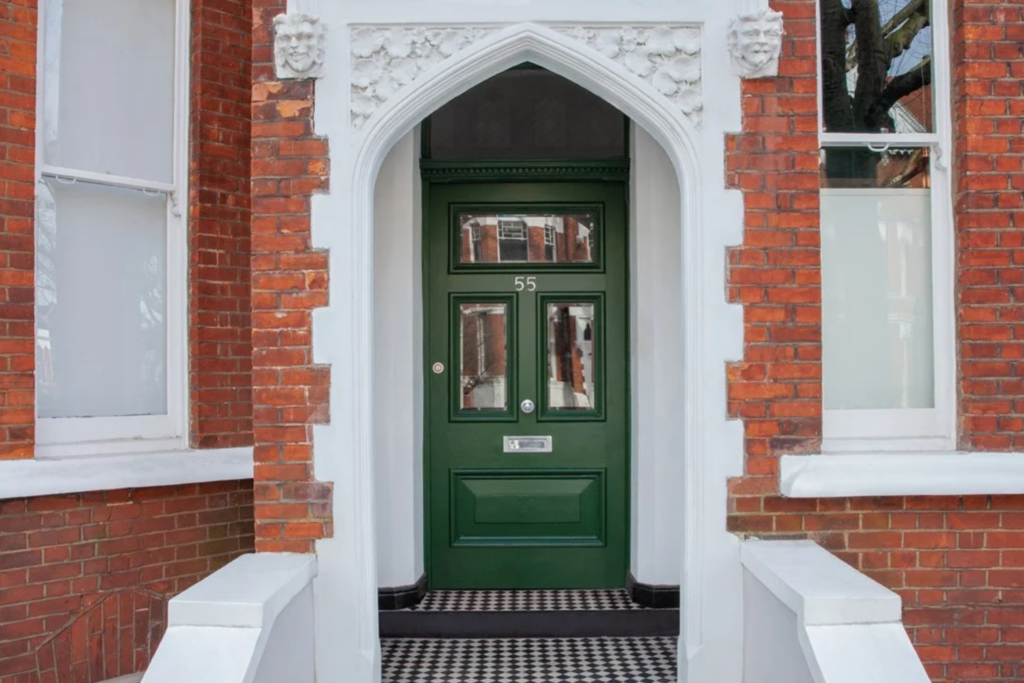Image via Farrow & Ball, green door