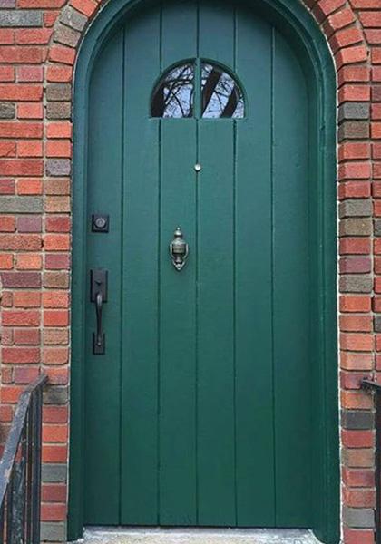 Image via Modern Masters, green door