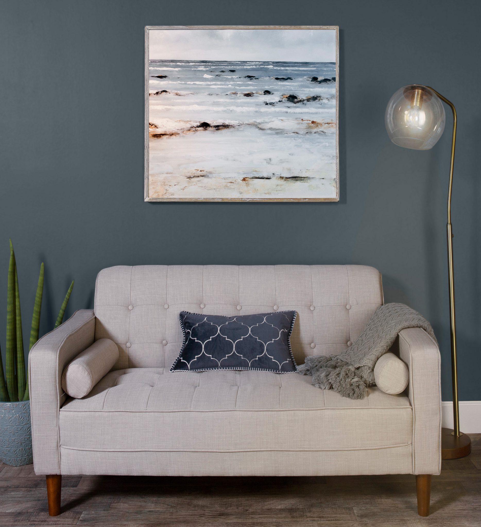 Best of Behr: Blue Gray Paint Colors - Image via Behr, feat. wall paint color: 'Blue Metal' by Behr