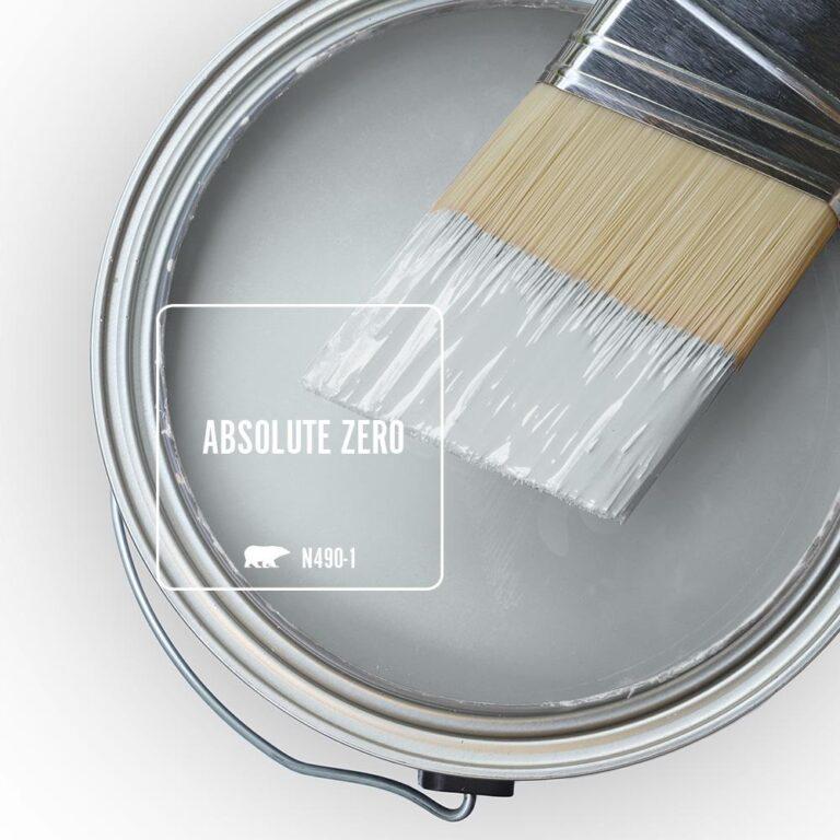 Behr Blue Gray Paint Colors - 'Absolute Zero' Image via Home Depot/Behr