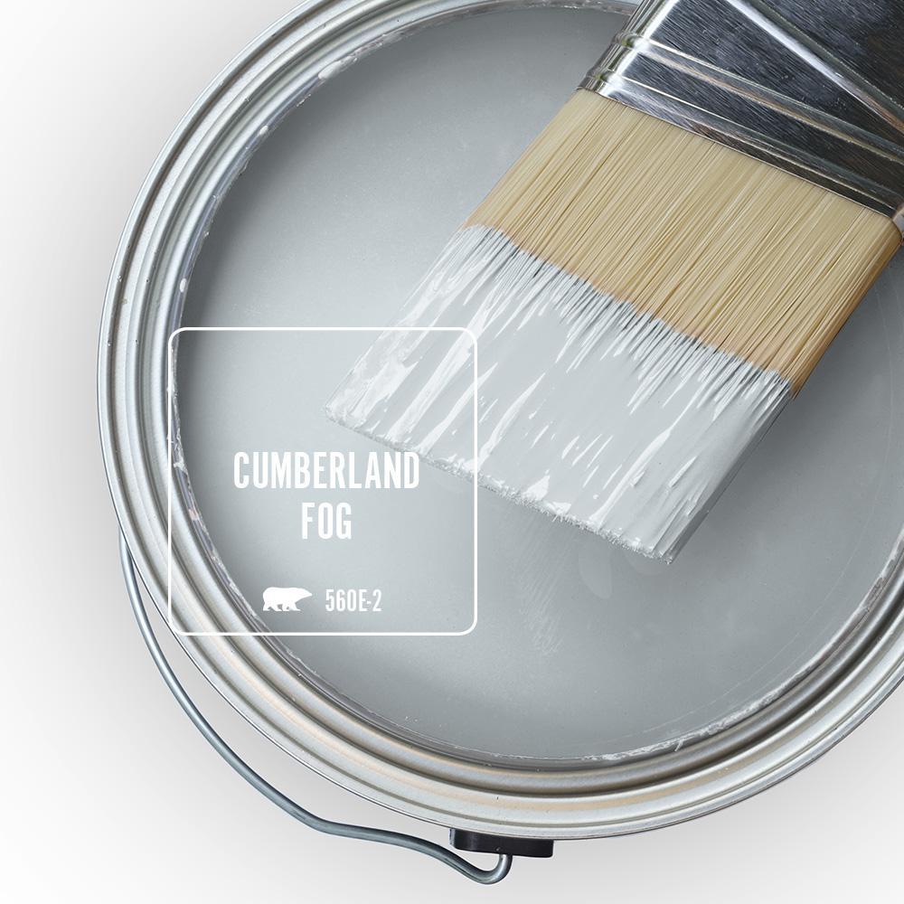 Behr Blue Gray Paint Colors - 'Cumberland Fog' Image via Home Depot/Behr