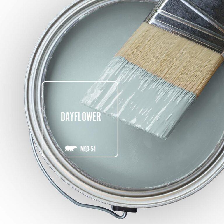 Behr Blue Gray Paint Colors - 'Dayflower' Image via Home Depot/Behr