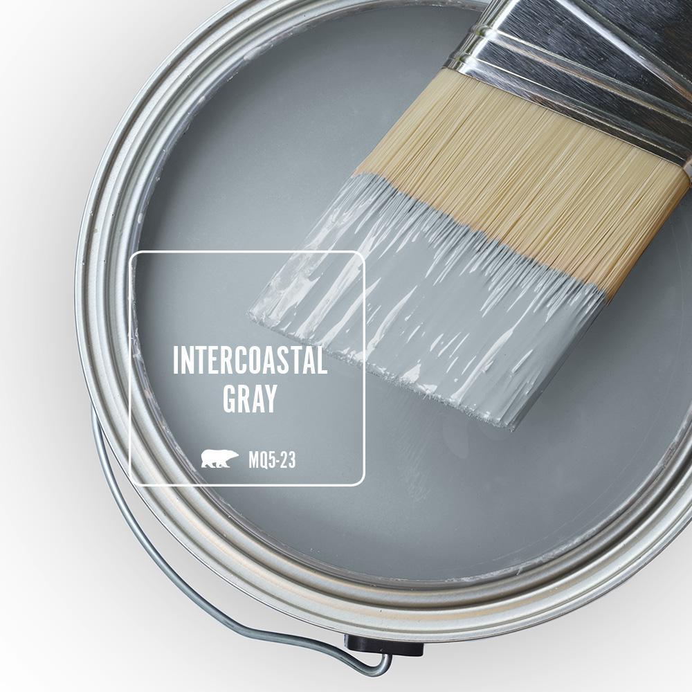 Behr Blue Gray Paint Colors - 'Intercoastal Gray' Image via Home Depot/Behr