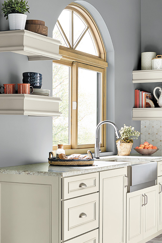 Image via Behr, feat. wall paint color: 'Intercoastal Gray' by Behr