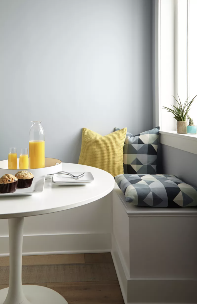 Best of Behr: Blue Gray Paint Colors - Image via Behr, feat. wall paint color: 'Light Drizzle' by Behr