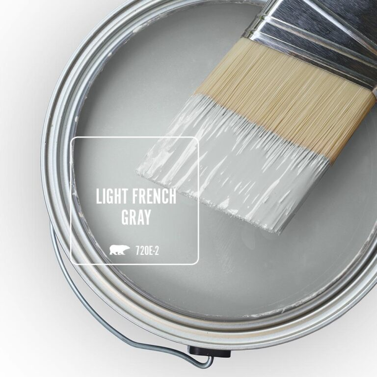Behr Blue Gray Paint Colors - 'Light French Gray' Image via Home Depot/Behr