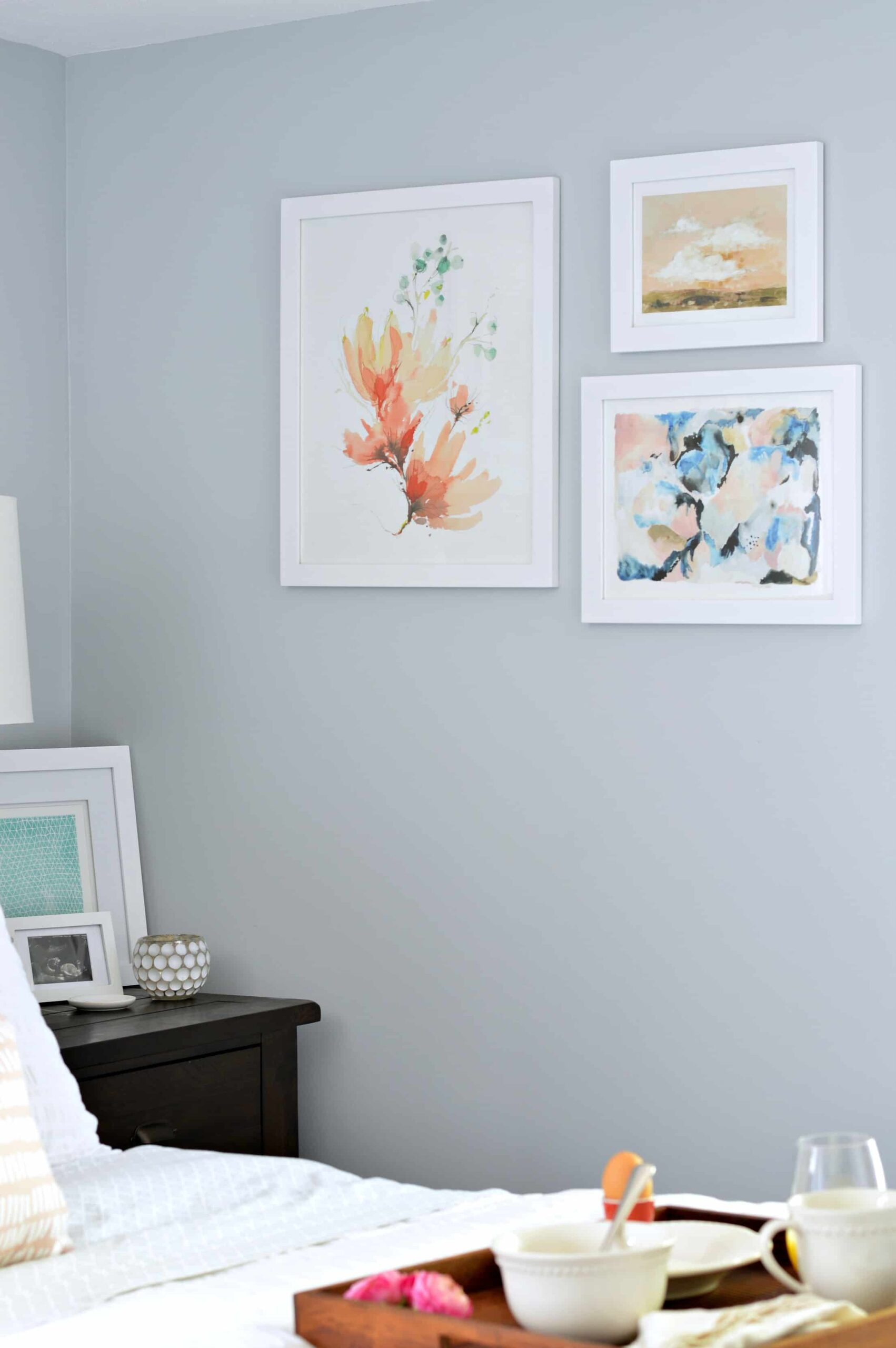 Best of Behr: Blue Gray Paint Colors - Image via Jenna Kate At Home, feat. wall paint color: 'Light French Gray' by Behr