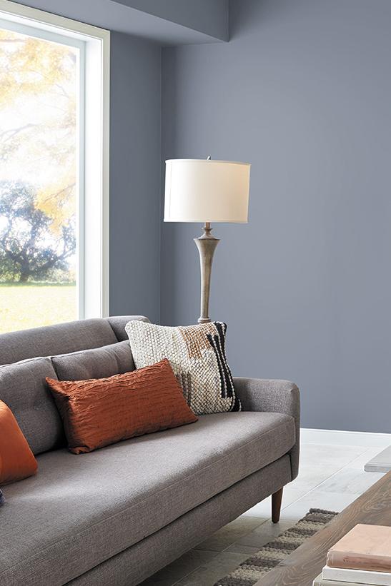 Best of Behr: Blue Gray Paint Colors - Image via Behr, feat. wall paint color: 'Liquid Mercury' by Behr