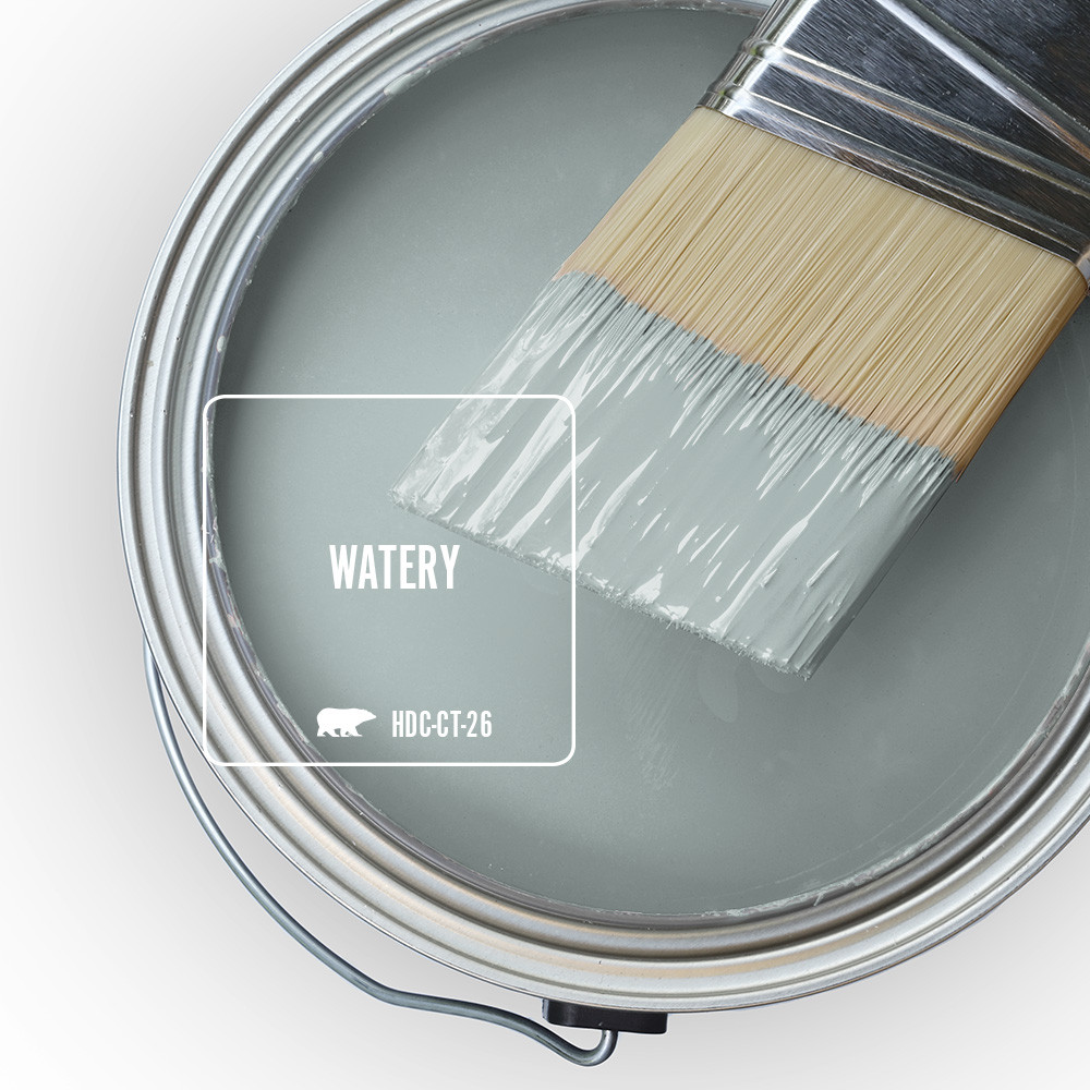 Behr Blue Gray Paint Colors - 'Watery' Image via Home Depot/Behr
