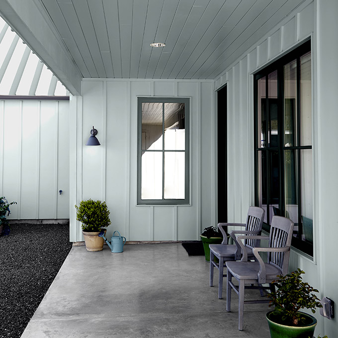 Image via Behr, feat. wall paint color: 'Watery' by Behr
