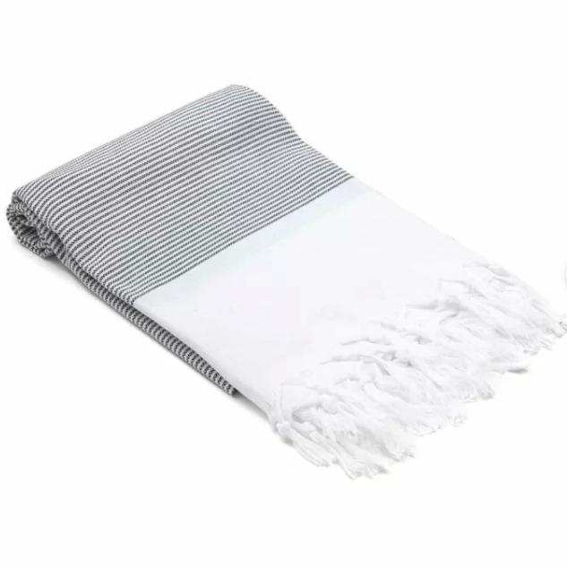 Fringed bath towel via Wayfair