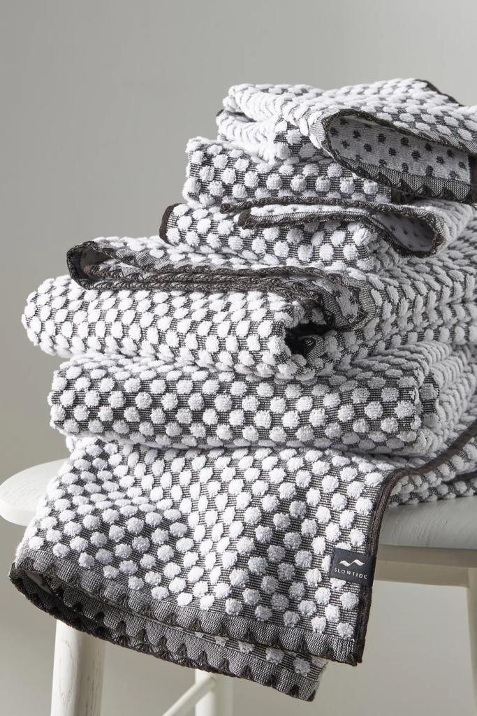 Polka dot bath towel via Anthropologie