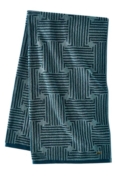 Textured turquised bath towel via Wayfair