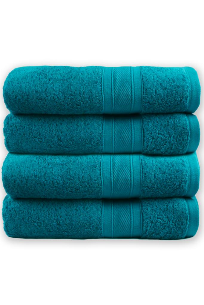 Teal bath towels via Target